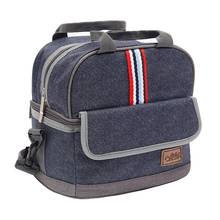 Denim Large Shoulder Ice Cooler Bags Insulated Pack Drink Food Thermal Leisure Women's Kid's Picnic Lunch Pouch Box Accessories