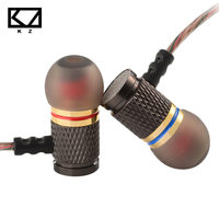 KZ ED Special Edition Gold Plated Housing Double Magnets Units Noise Isolating HD HiFi Earphone Headphones