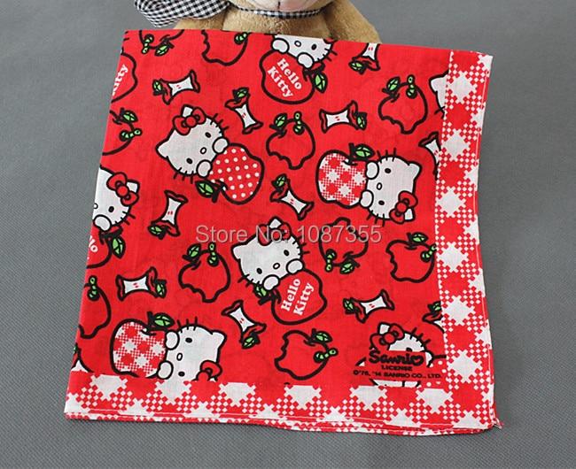 7ab46d690 Ladies Cartoon Hankerchiefs 100% Cotton Hello Kitty Handkerchiefs Vintage  Hankies 42*42cm Pocket Square Scarfs-in Women's Ties & Handkerchiefs from  Apparel ...