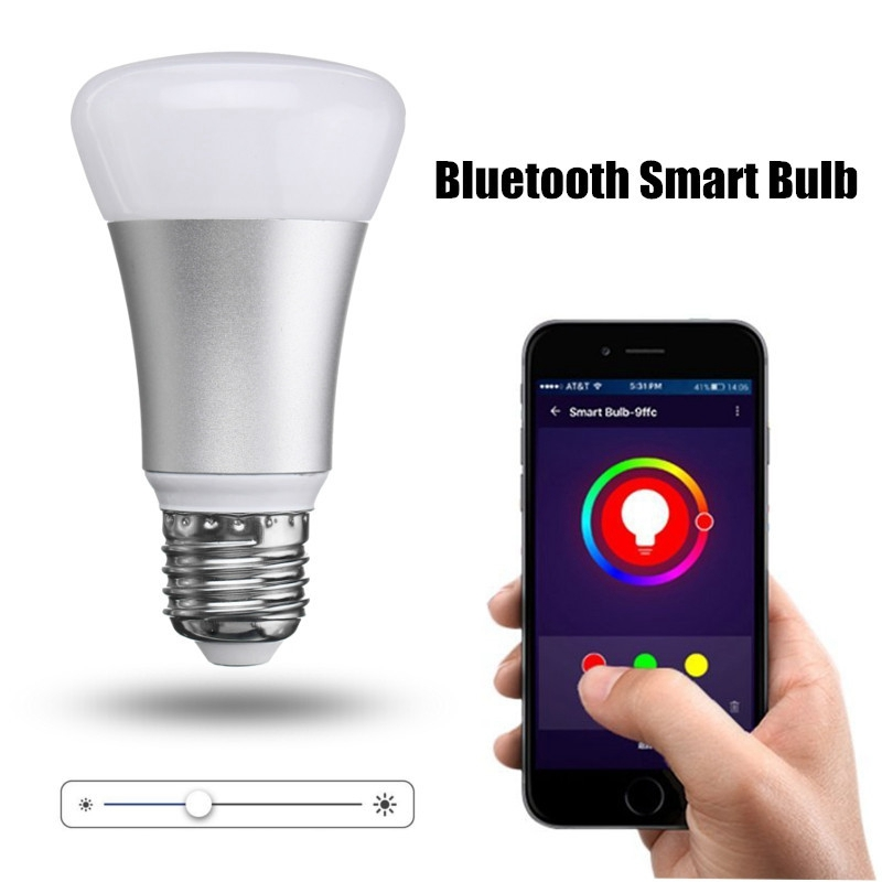 AC 85-265V RGBW LED Bulb E27 Smart Home Color Changing Light Spotlight Down Lamp Bulbs Bluetooth Wireless Interface Lampada szyoumy e27 rgbw led light bulb bluetooth speaker 4 0 smart lighting lamp for home decoration lampada led music playing