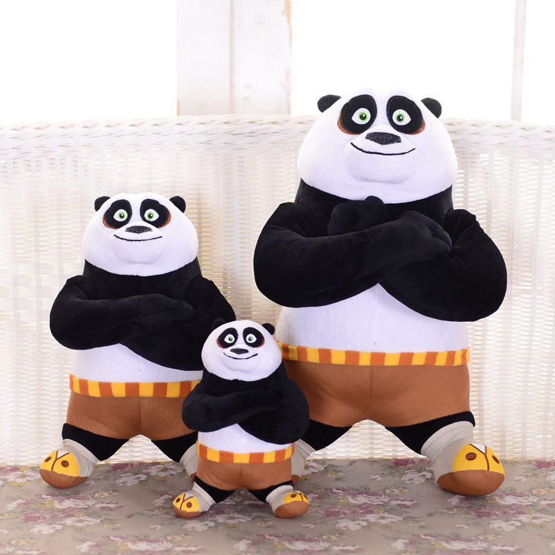1pc 8 20cm Kung Fu Panda Stuffed Animal Plush Toys Cute Doll Collectible Soft Stuffed Anime Doll Baby Kids 40cm 50cm cute panda plush toy simulation panda stuffed soft doll animal plush kids toys high quality children plush gift d72z