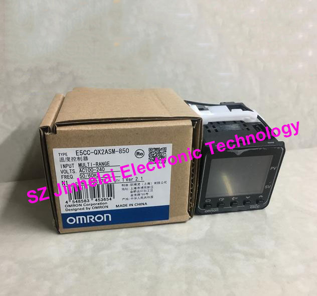 Authentic original OMRON Digital temperature controller E5CC-QX2ASM-850 AC100-240V omron original authentic 100% new e5cc rx2asm 880 electronic temperature controller digital display temperature controller