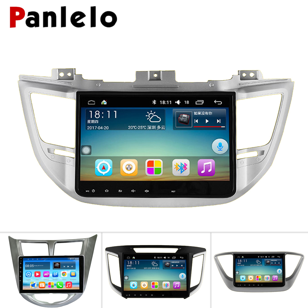 Panlelo pour Hyundai Tucson 2008 autoradio 2 din Android Auto Radio pour Hyundai Elantra 2017 Quad Core pour Hyundai Verna GPS Wifi