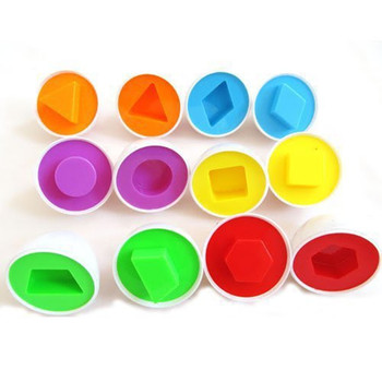 Infant Tong Yizhi educational toys toy recognize color shape matching egg fight inserted  wooden toys kids toys puzzle S36