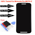 Para motorola moto e xt1021 xt1022 xt1025 screen display lcd de toque digitador + ferramentas, Shiping livre