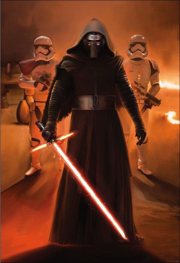 5x7ft Star Wars Force Wekt Kylo Ren Warrior Oranje Poster Custom Fotografie Studio Achtergrond Vinyl 150 Cm X 220 Cm