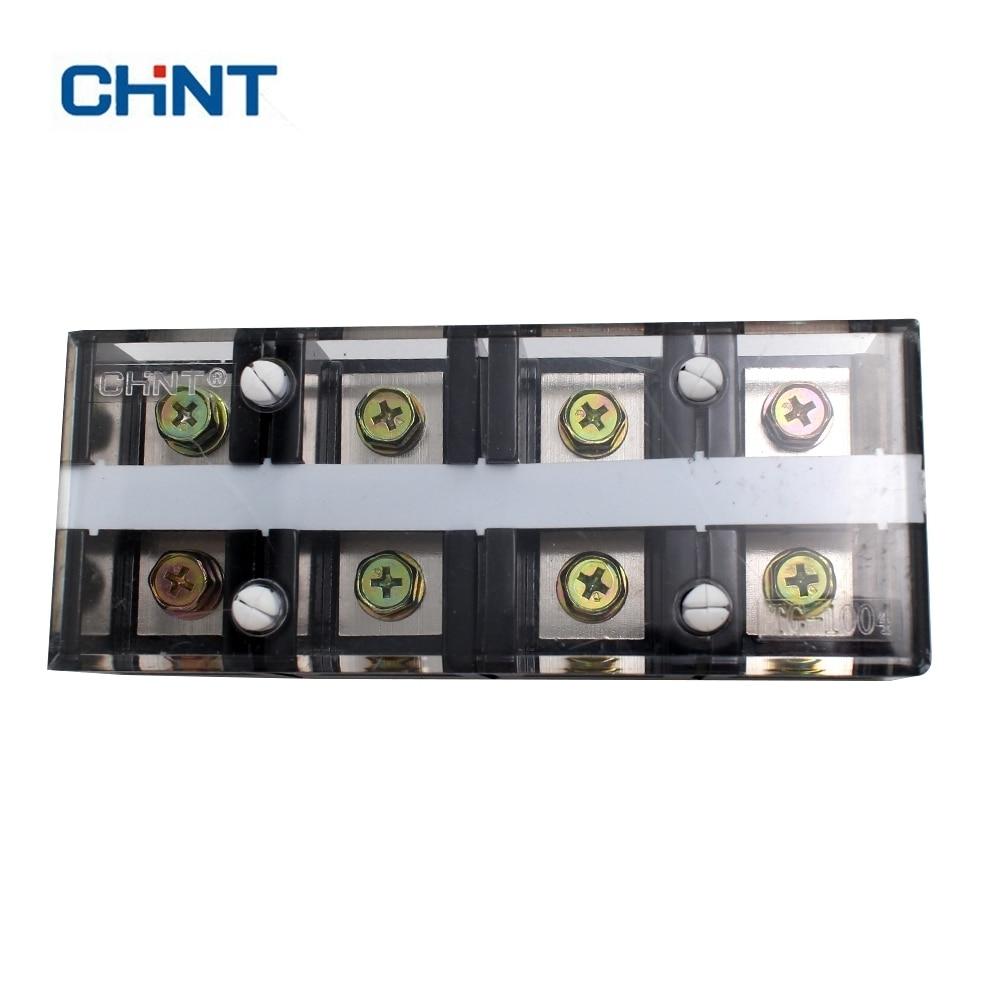 CHNT Copper TC-1004 Fixed High-current Terminal Block 4P 100A 4-bit Pop Socket connector