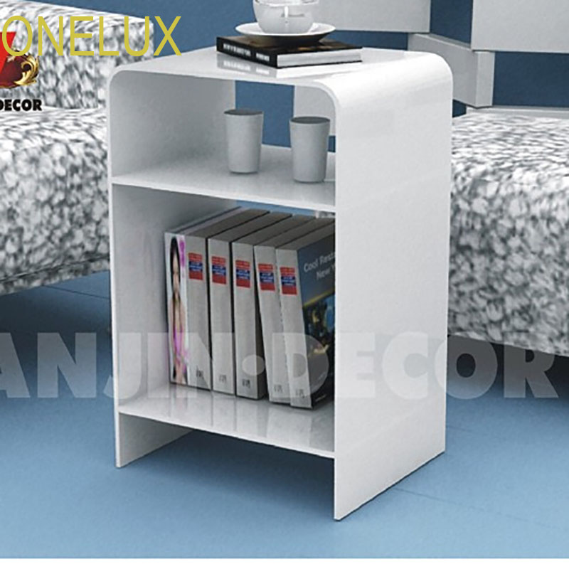 Multi-color Acrylic nightstand with magazine rack, Lucite bedside cabinet sofa tables free shipping shelf clear acrylic lucite bedside table plexiglass nightstand
