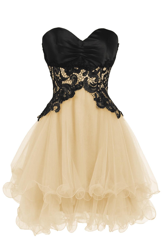 Black Lace Corset Dress