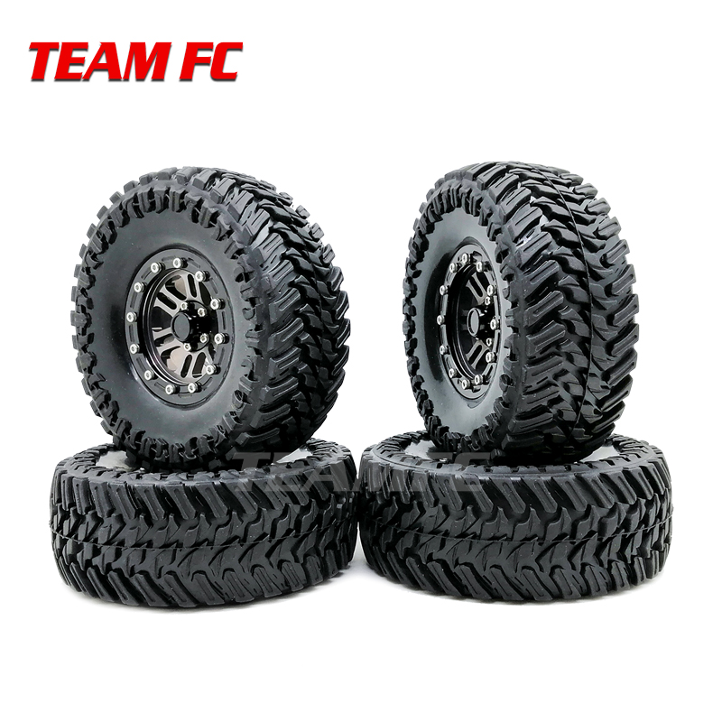 4pcs 108mm 120mm Metal 1.9 Inch Rim Wheel And Rubber 1.9