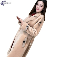TNLNZHYN Winter New Women Clothing Cashmere Fur Coat Fashion High End Large Size Thicken Warm Female