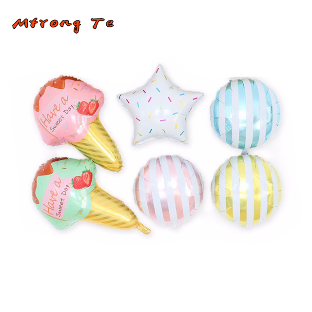 6pcs ice cream forl air helium balloons for ice cream party hawaii theme party 1st baby
