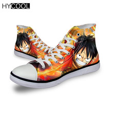 HYCOOL Anime One Piece 2019 New Kids Skateboarding Shoes Monkey D Luffy Kid's Sneakers Boys Sports Shoes Breathable Canvas Hot