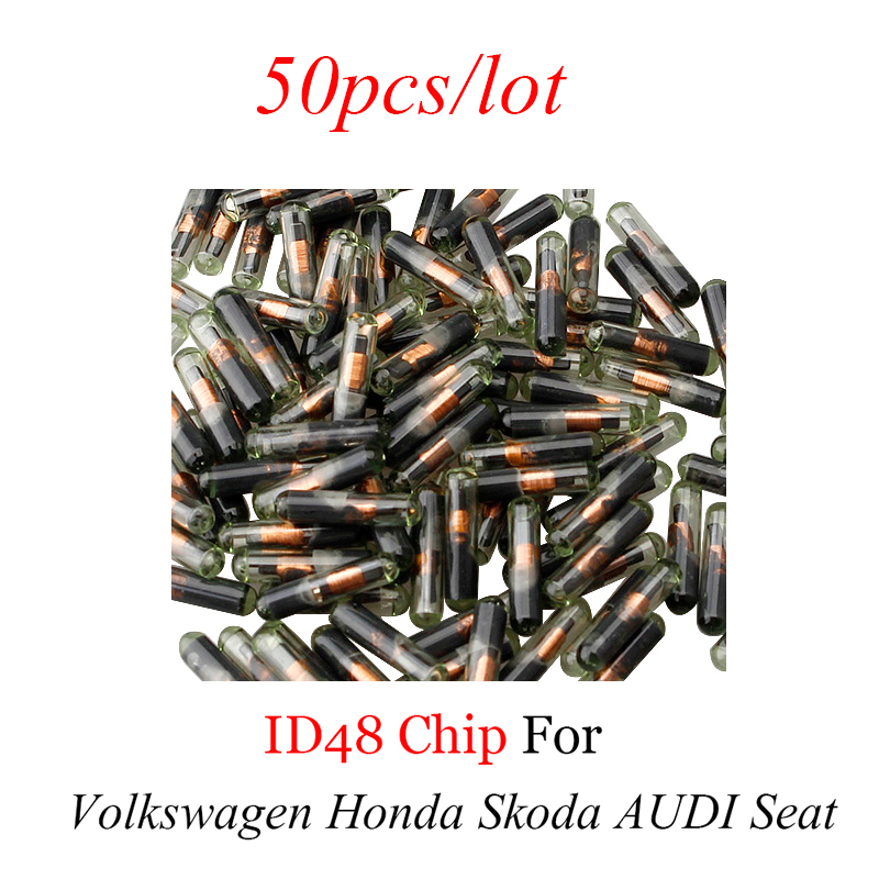 50pcs lot Car Remote key Transponder ID 48 Chip For ADUI For VW Volkswagen ID 48