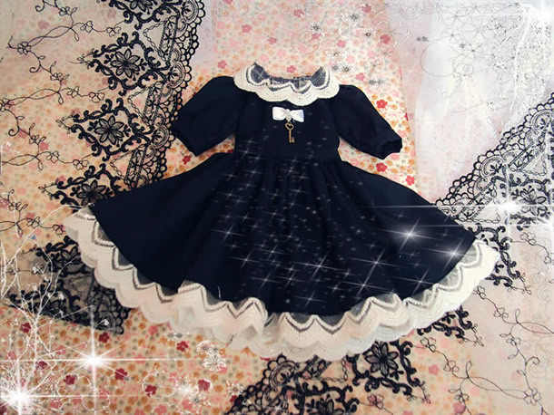 bjd accessories doll 1/4 1/6 bjd clothes preppy style Doll black blue princess dress set customize clothing 1 4 1 3 bjd doll clothes soom british style retro uniforms series seven