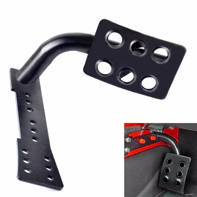 buy metal dead pedal left side foot rest kick panel for jeep wrangler jk jku. Black Bedroom Furniture Sets. Home Design Ideas