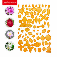 New Leave Flower Plastic Cutters Fondant Cutter Cookie Cutter Set Cake Decorations Sugarcraft Baking Tools Cup