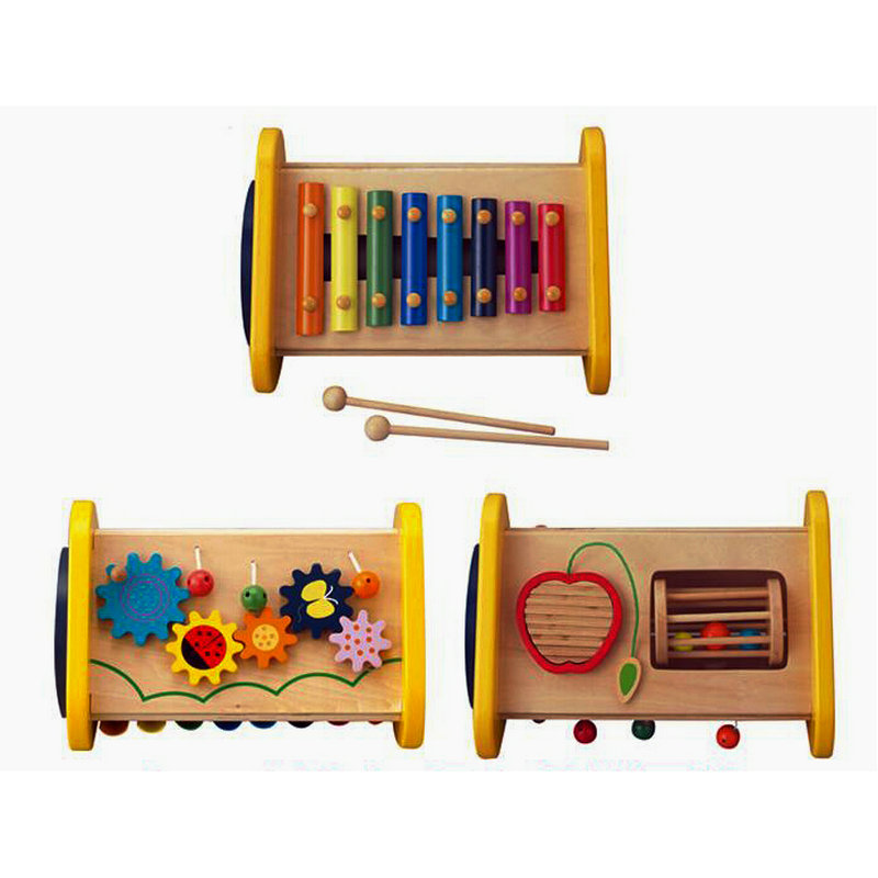 Livraison gratuite Bébé En Bois Combinaison Instruments de Musique Jouets, multifonctionnel instrument de percussion, enfants de jouet musical