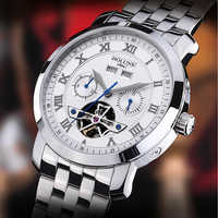 2018 Holuns メンズ腕時計アンティーク自動機械式時計年/月/週/日ビジネス軍事男性スポーツ 200 メートル防水