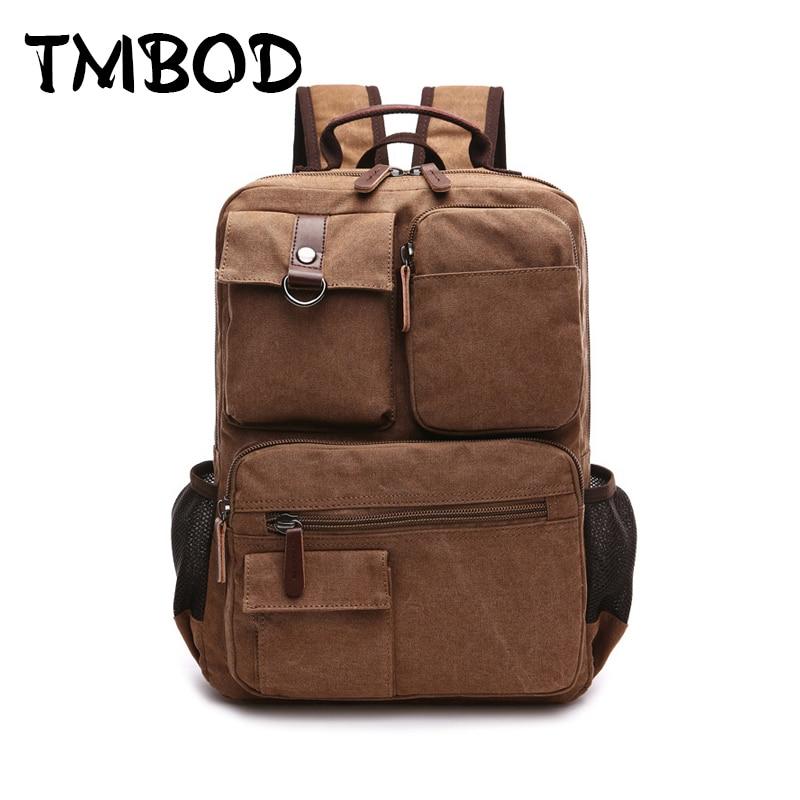 Naujas 2019 vyrų atsitiktinis drobė alpinistas kuprinės kelionių mokyklos krepšys žmogus didelio pajėgumo kuprinės peties krepšiai vyrams an532