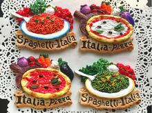 Italian Food Pizza Noodle Series Fridge Magnet