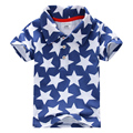 2016 Hot Sale High Quality 100% Cotton Summer Baby Boys Clothes Short Sleeve Kids Tshirt  Boys Polo Shirt