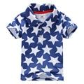 2016 venta caliente de alta calidad 100% algodón verano bebé ropa de los muchachos embroma la camiseta muchachos de polo de manga corta camiseta