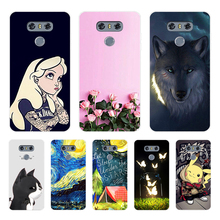 цена на For LG G6 Case 5.7 inch Cat dog Animals Painted Soft TPU Phone Cover for LG6 G 6 LGG6 H870DS H870 Protective Silicone Back Cases