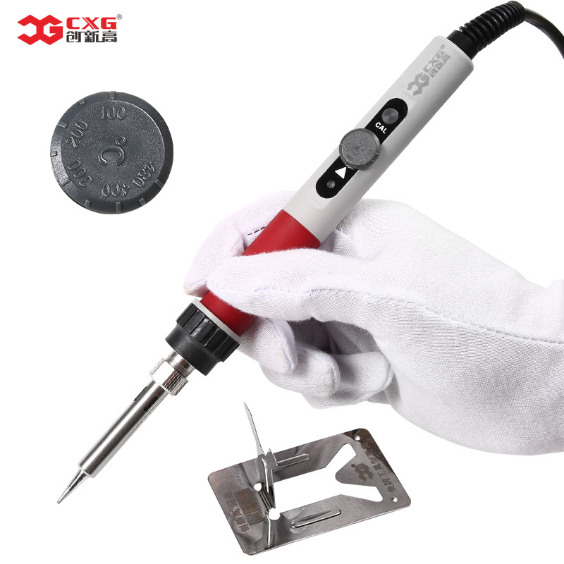 CXG DT70 Electric Soldering Iron 220V 70W Adjustable Temperature EU Plug Welding Solder Station Tool Thermostat Soldering Iron