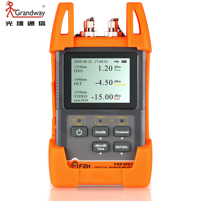 Grandway FHP3P01 EPON GPON xPON OLT-ONU FTTx PON Power Meter OPM 1310/1490/1550nm