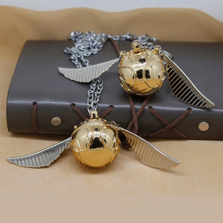 For Harry Potter Golden Snitch Necklace Original Version Figure Toys Wizard Magic Birthday Christmas Gift Adults Kids