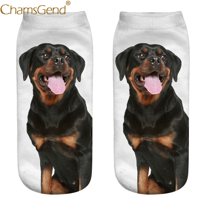 Chamsgend Drop Shipping Women Girls Rottweiler Dog 3D Print Female   Socks   80228