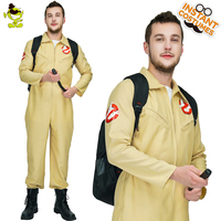 Ghostbusters Costume Ghost Busters Cosplay Jumpsuit Halloween Team Uniform Unisex Flight Suit Rompers Fantays Carnival