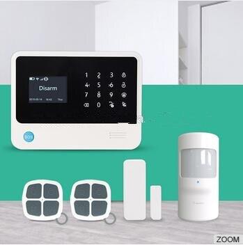 Multi-language Menu G90B Wifi Plus GSM Alarm System Smart Home Security Alarm With App control