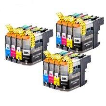 12PK картриджи для принтеров совместимый для LC223 (LC221) MFC-J4420DW J4620DW J4625DW J5320DW J5620DW Рынок