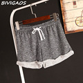 2016 Womens Summer Casual Loose Shorts Drawstring Wide Leg Short Polyester Terry Shorts Feminino Home Comfy Shorts For Women