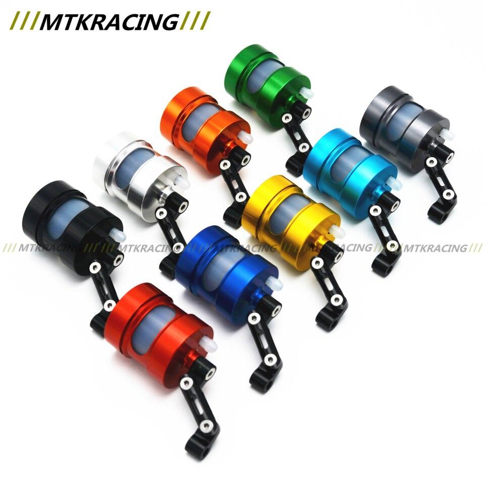 MTKRACING Motorcycle Motorbike CNC Brake Clutch Pump Oil Fluid Tank Reservoir Cup with Bracket Holder Universal
