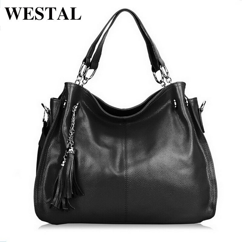 WESTAL Women Bag Genuine Leather Bag Leather Handbag Female Shoulder Crossbody Bags Fashion Tassel Design Messenger Bags Bolsa women bag genuine leather bag brands leather handbag female shoulder crossbody bags cowhide fashion design messenger bags