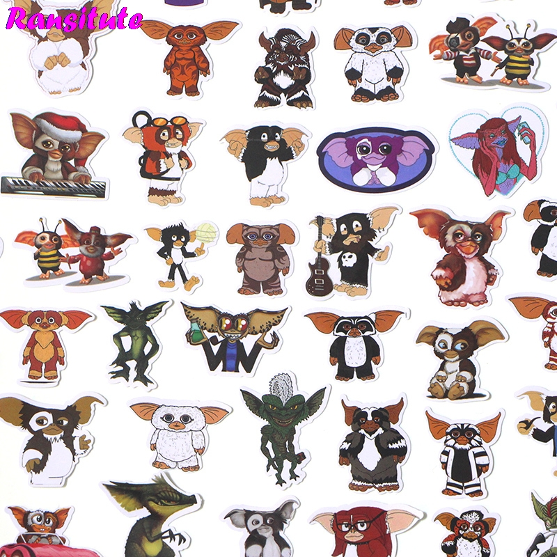 66pcs/set Gremlins Graffiti Sticker Kids DIY Waterproof Label Stationery Sticker Diary Album Toy Sticker