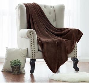 Image 3 - Couverture jeté blanche en tissu microfibre, en flanelle, pour lit, pour voyage, couverture polaire chaude, corail