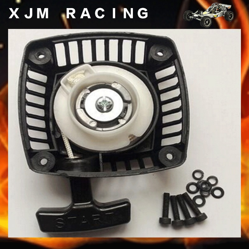 Pull Starter (Metal claw centered) start for 23cc 26cc 29cc 30.5cc engine zenoah CY for 1/5 hpi baja 5b rovan LT Losi 5ive-t recoil starter assembly for zenoah gw26i g260 26cc rc boat g290 g300 g320 pu pum puh pull starter assy komatsu part