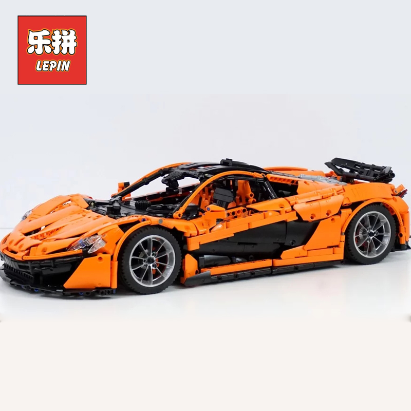 Lepin 20087 Technic Toys The MOC-16915 Orange Super Racing Car Set Building Blocks Bricks Kids Toys Car Model Christmas Gift