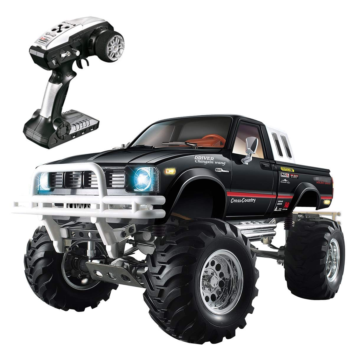 Voiture RC 1/10 échelle radiocommande 4WD tout-terrain camion de décapage grande taille 2.4 Ghz camion télécommandé avec 3 vitesses pour adulte et enfant
