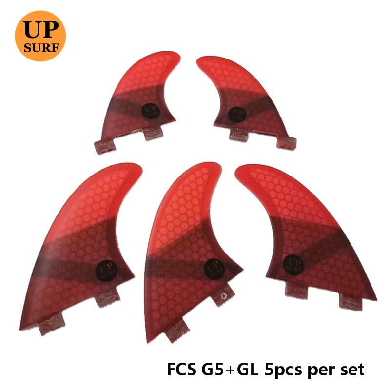 4Pcs / 5pcs FCS Fins G5 GL Fin Honeycomb Fiberglass Fins G5 + GL - Су спорт түрлері - фото 4