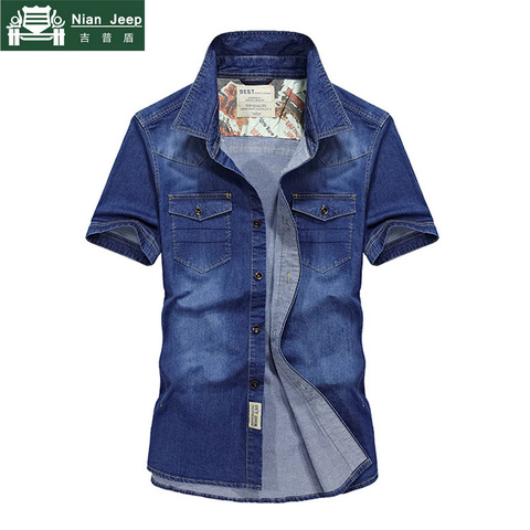 2018 Brand Clothing Men Shirt Camisa Masculina Plus Size 4XL Jeans Shirt Mens Shirts Summer Short Sleeves Cago Shirt homme Lahore