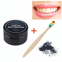 купить MayCreate Teeth Whitening Activated Charcoal Powder & Bamboo Rainbow Toothbrush Oral Care Set Natural Teeth Clean Oral Hygiene дешево