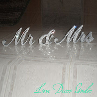 Free Shipping Customize The Sparkling Diamond Crystal Mr Mrs Sign 4 5 6 7 8 Tall