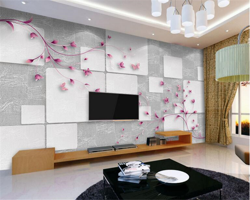 beibehang 3d papel de parede Autumn leaves flowers elegant and elegant aesthetic 3D background wall murals wallpaper tapety
