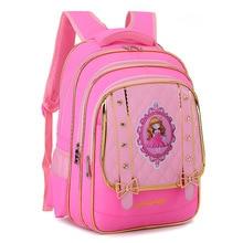 orthopedic kids schoolbags for girls Princess backpack bookbags children waterproof primary escolar satchel mochila infantil zip