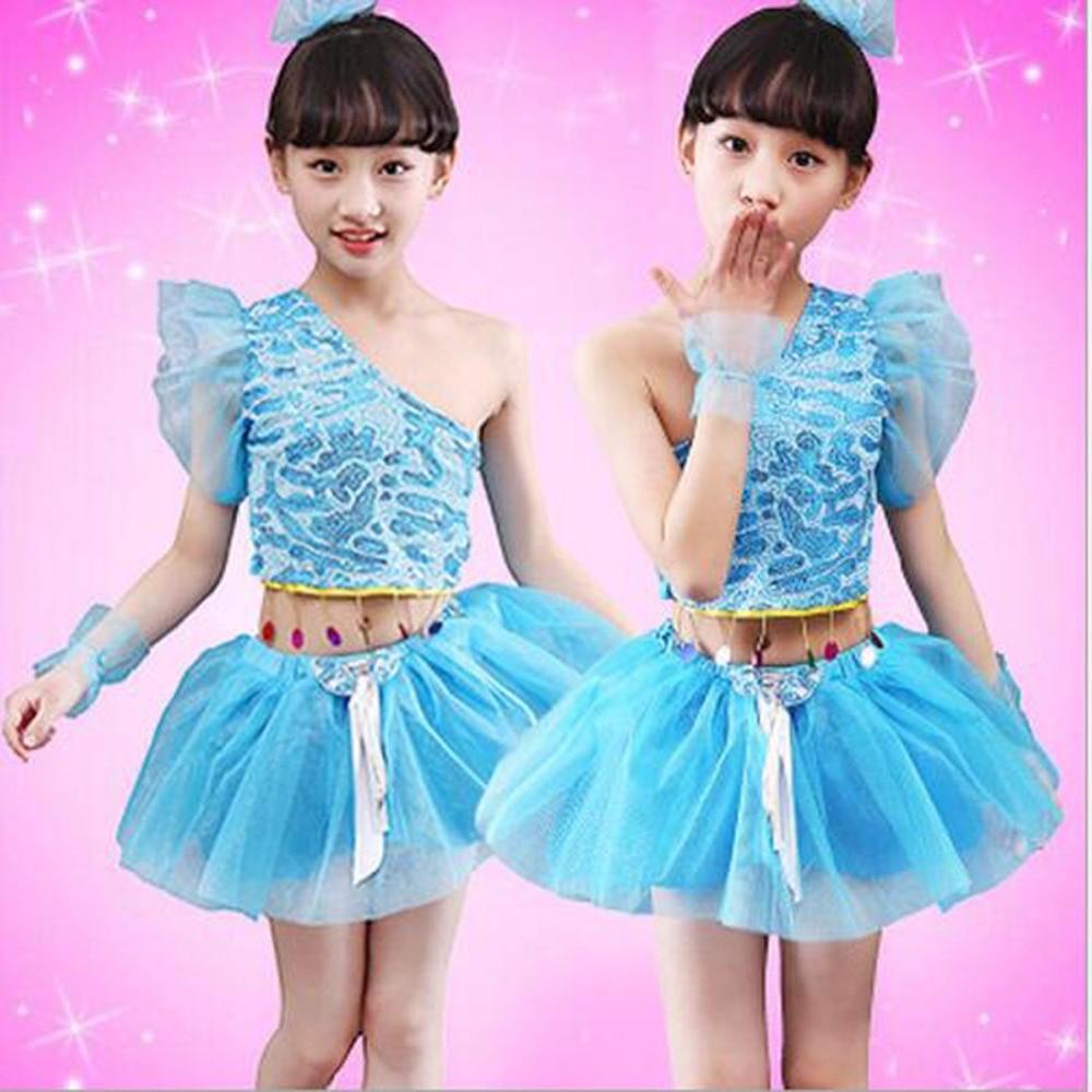 Bazzery Girls Latin Dance Dress Children Clothing for Latin Dances Leopard Ballroom Party Dance Sequin Skirt